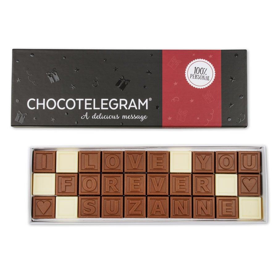 Chocotelegram - Luxuriöse Geschenkverpackung 3x10