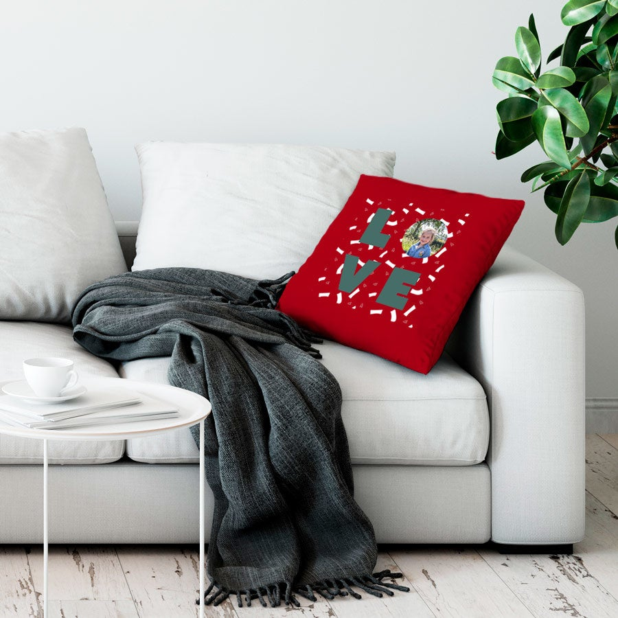 Love Throw Pillow - Large no stuffing - Red