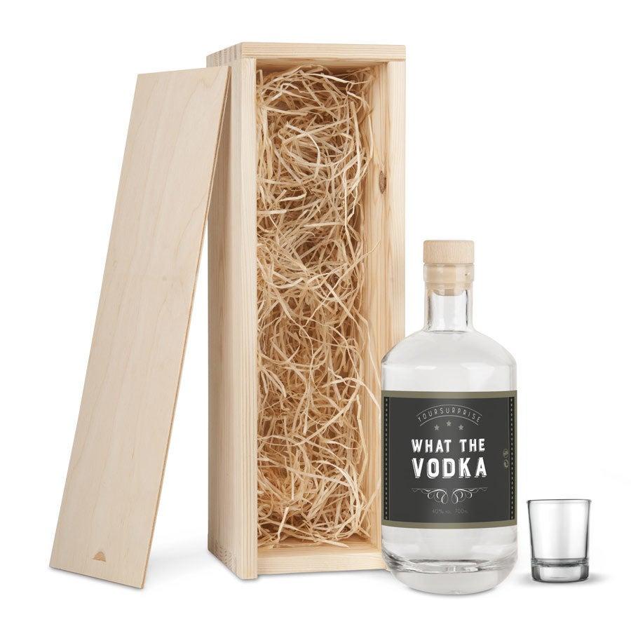 YourSurprise vodkapakket met gegraveerd glas