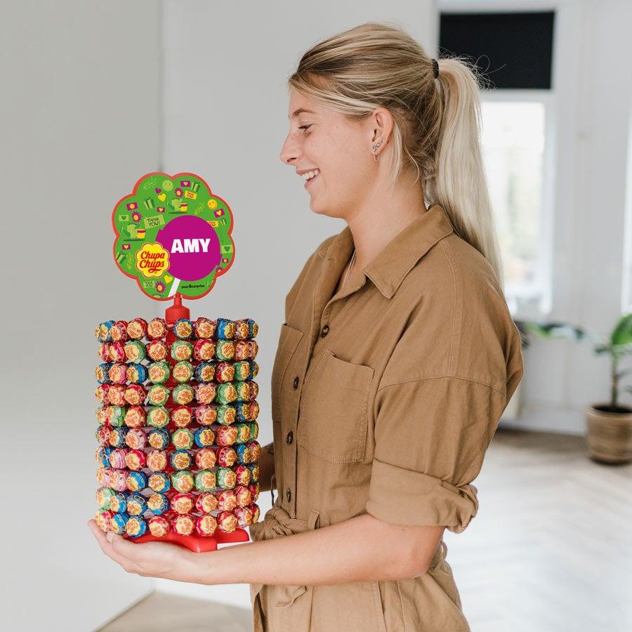 Chupa Chups tower - 200 lollipops
