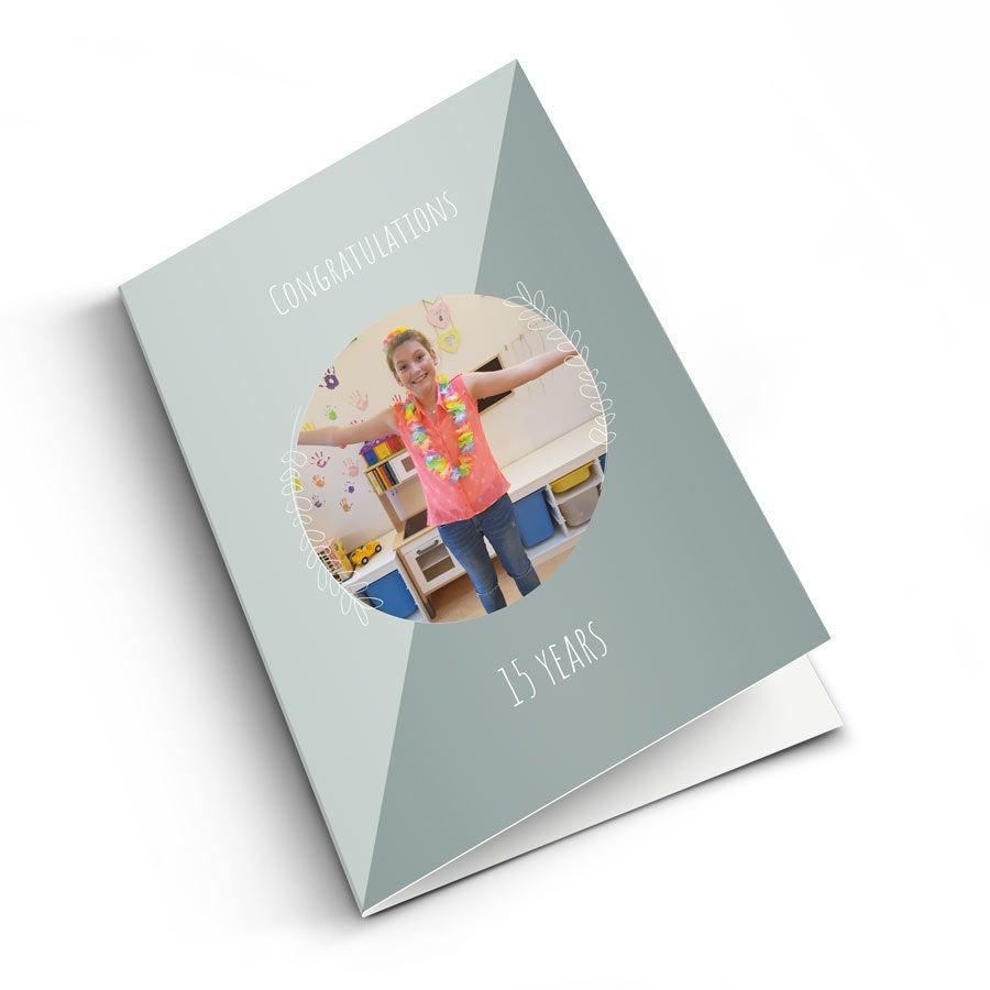 Personalised greeting card - Anniversary - M - Vertical