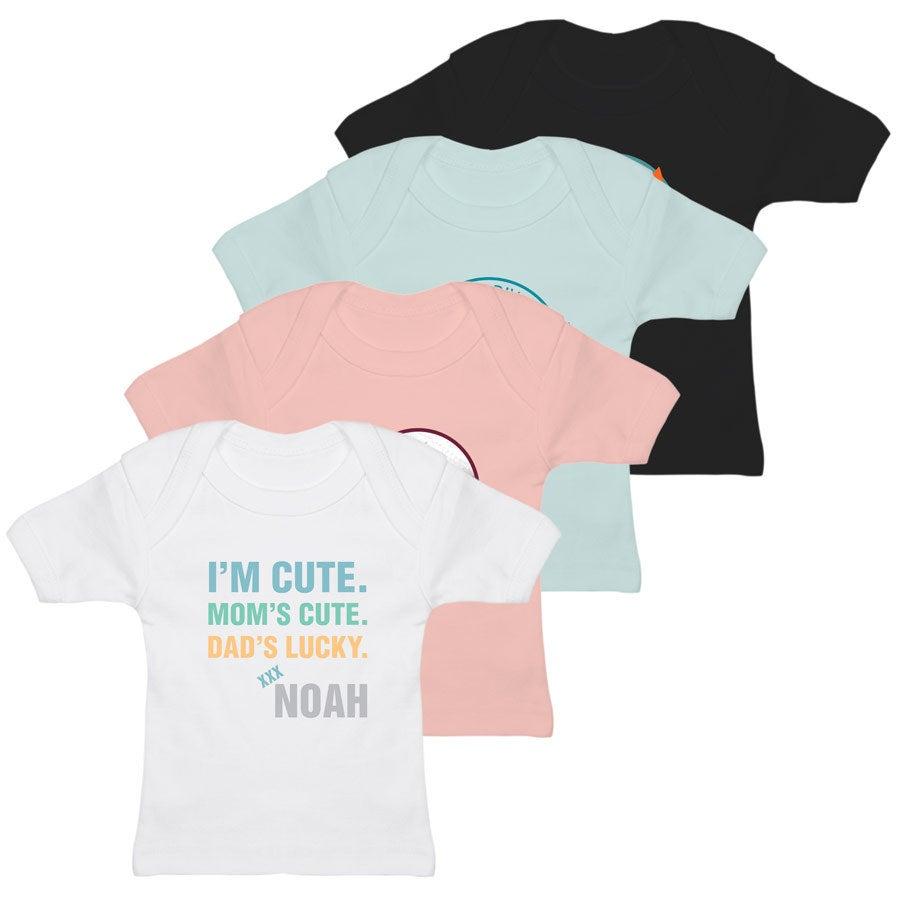 Baby T-shirt - Blå 0-6 måneder