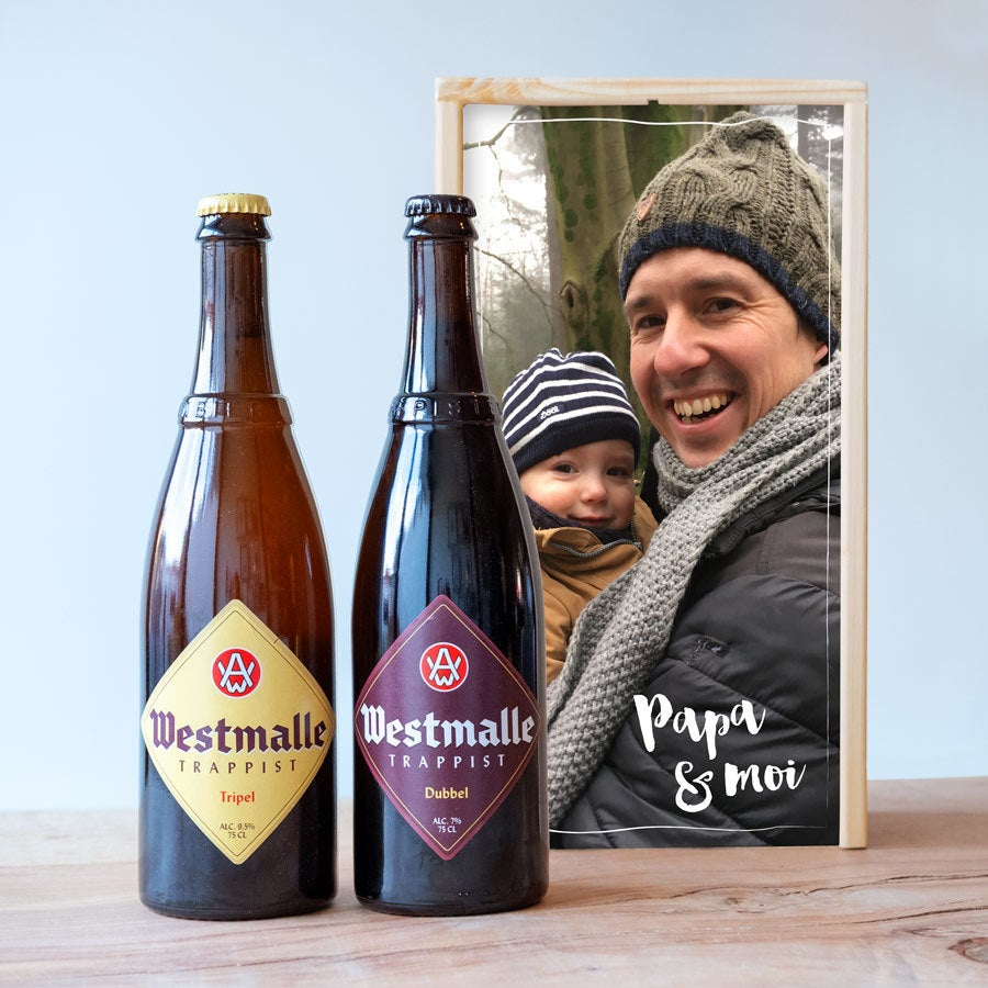 Coffret à bières - Westmalle Double & Triple - Coffret en bois
