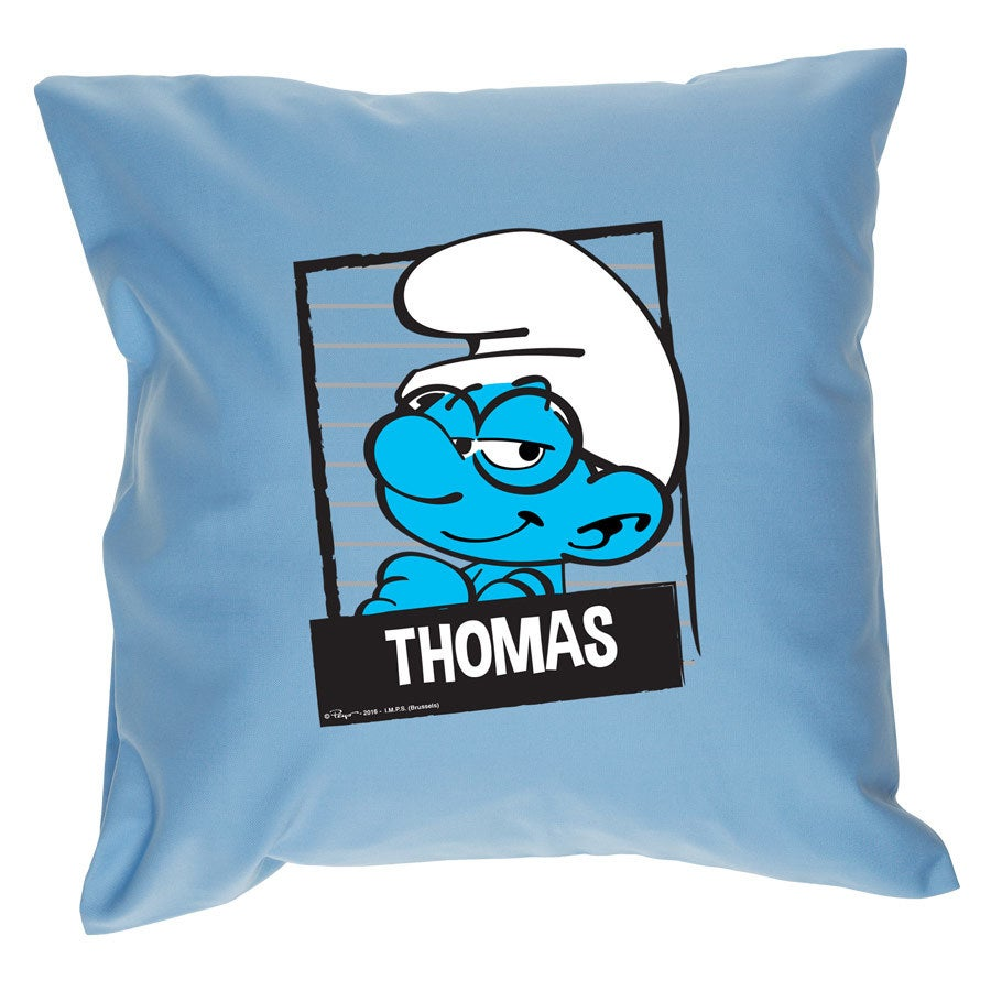 The Smurfs cushion - Light Blue (with filling)
