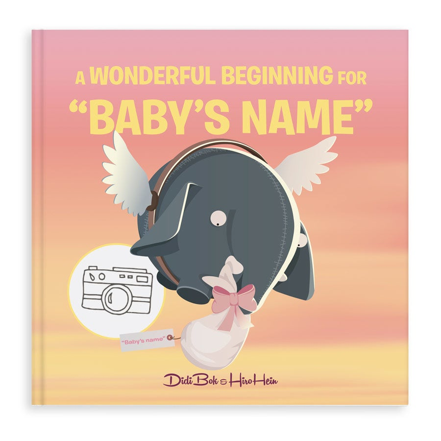 Personalised Olli baby book - Hardcover