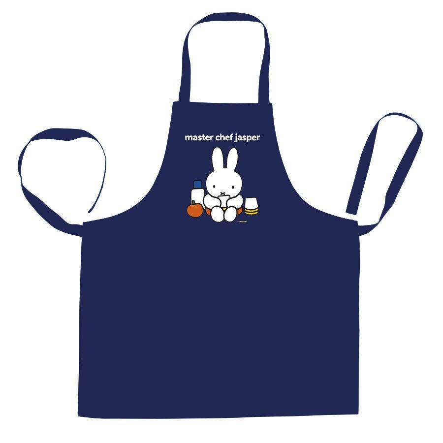 Tryckt Kök förkläde miffy - Blå
