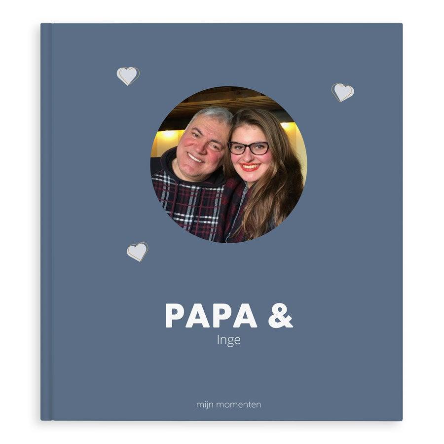 Momenten fotoboek maken - Papa & ik/wij - XL - Hardcover - 40 pagina's