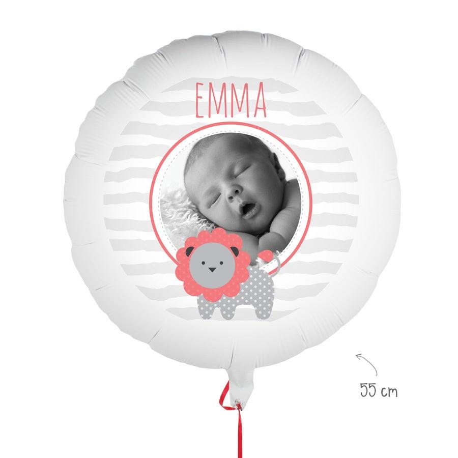 Ballon bedrucken - Geburt