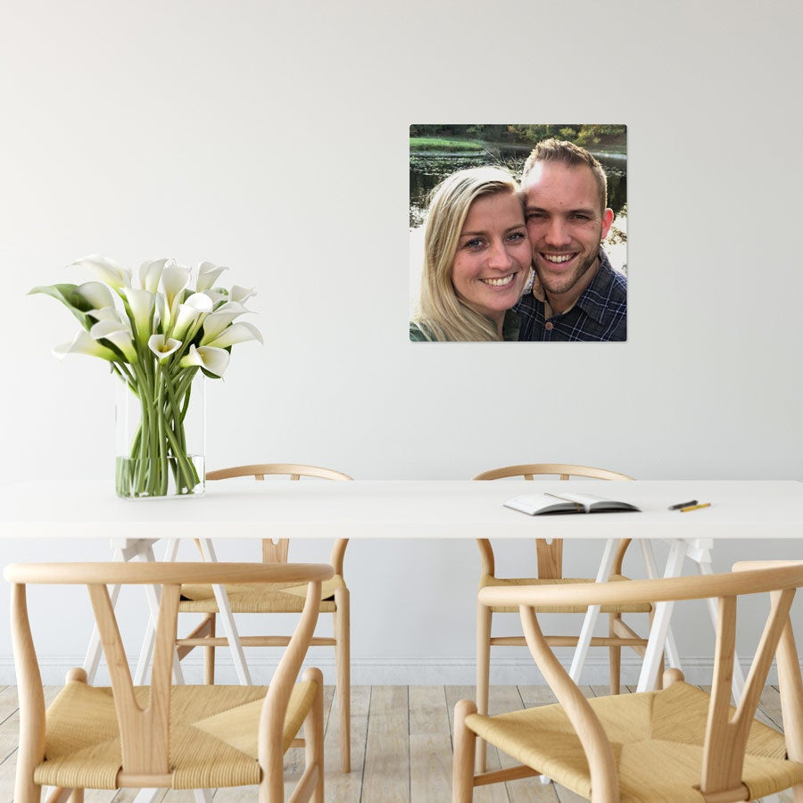 Foto op aluminium afdrukken - Wit (ChromaLuxe) - 50 x 50 cm