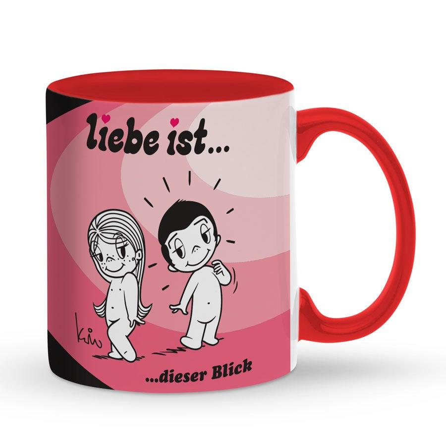 Tasse mit Namen - Rot - Liebe ist ...