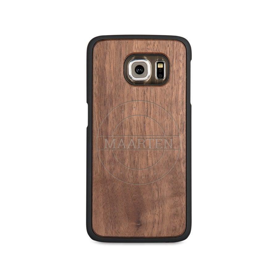 Houten telefoonhoesje graveren - Samsung Galaxy s6 edge