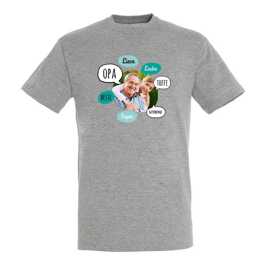 Opa T-shirt - Grijs - S