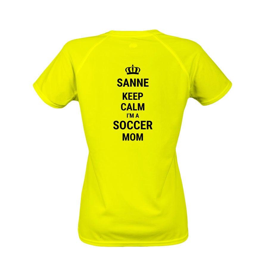 Sportshirt bedrukken - Dames - Geel - XL