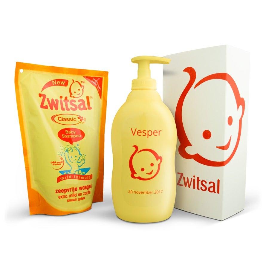 Zwitsal pakket - Fles wasgel met naam