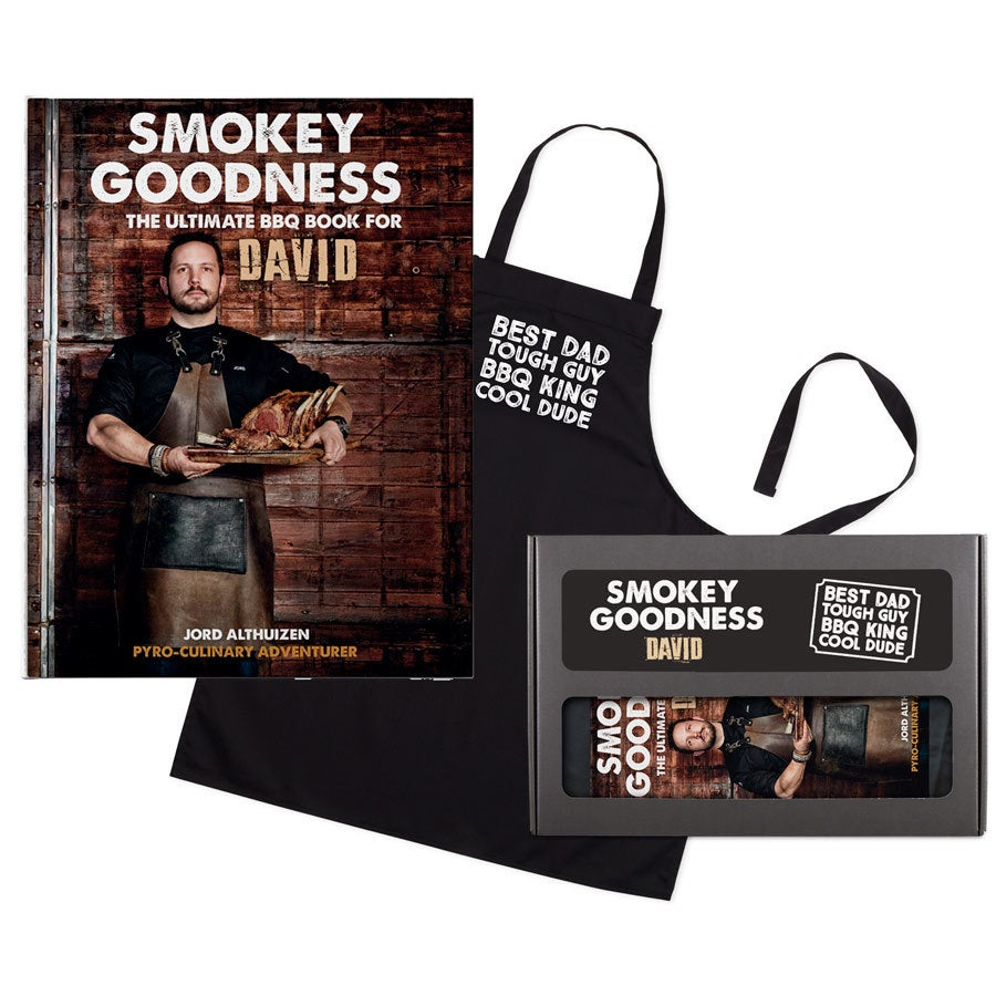 Personalised book - Smokey Goodness - BBQ gift set for fathers