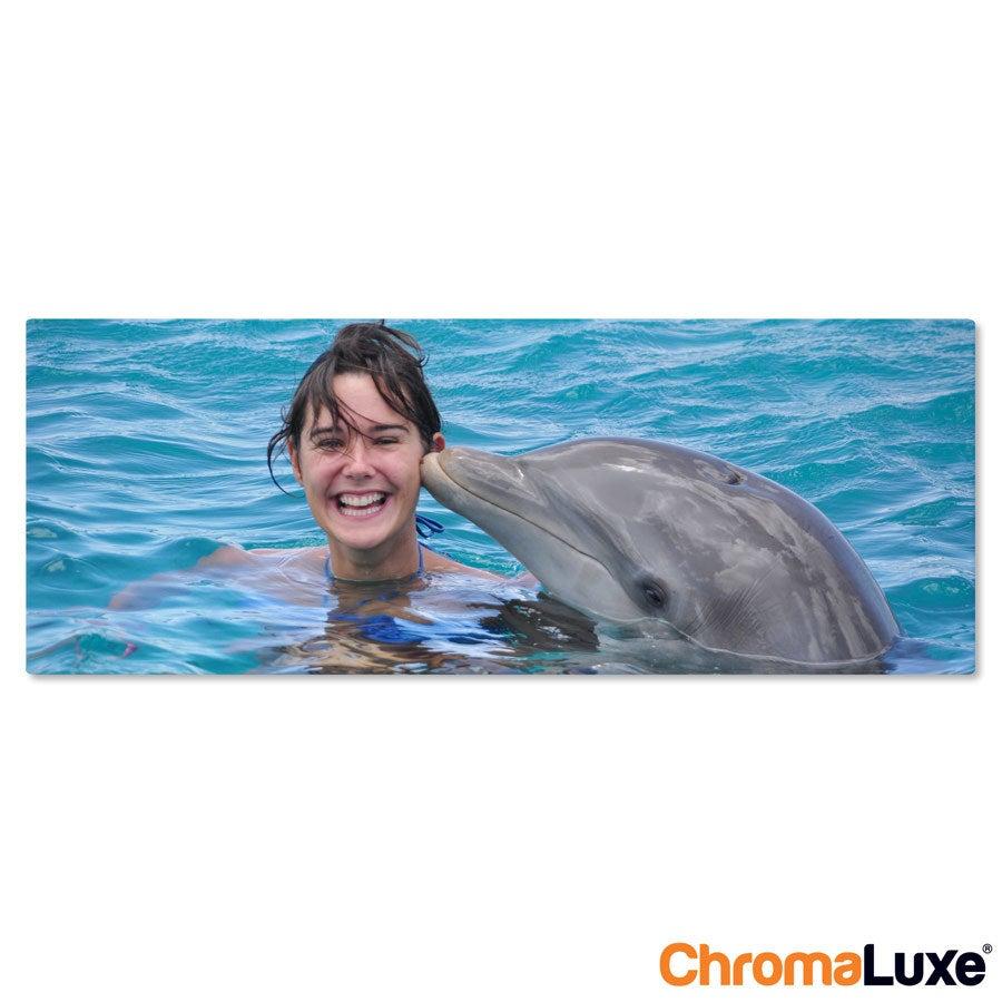 Foto op aluminium afdrukken - Wit (ChromaLuxe) - 80 x 30 cm
