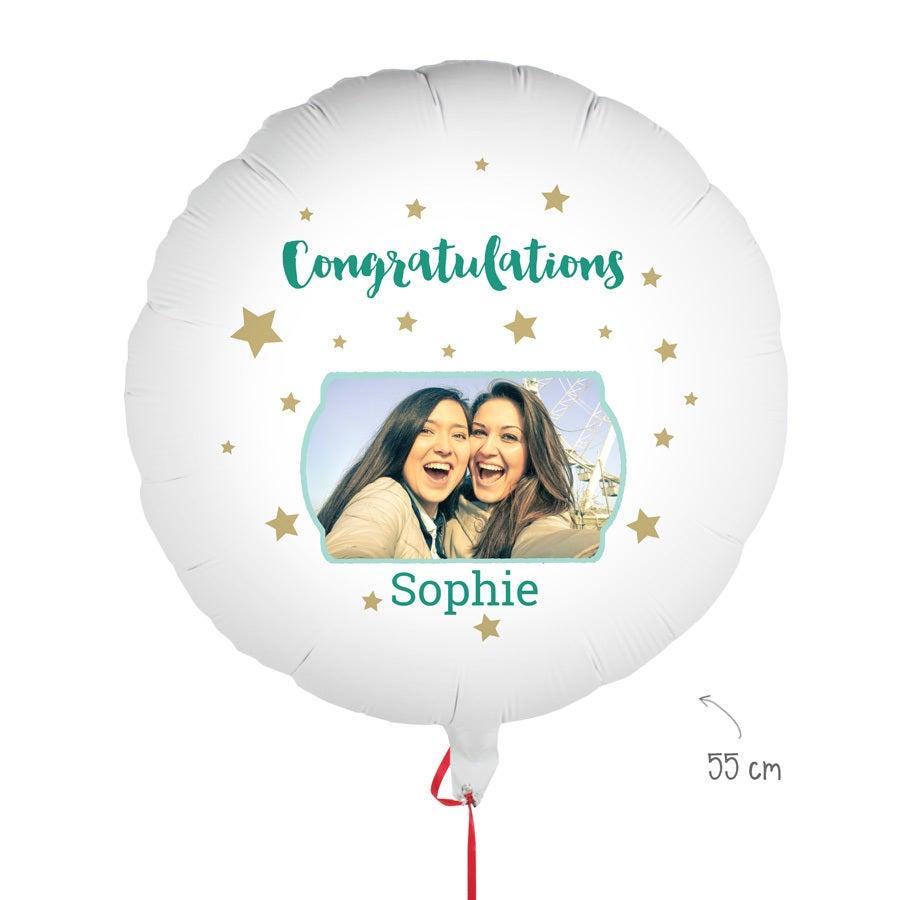 Balloon with photo - Congratulations