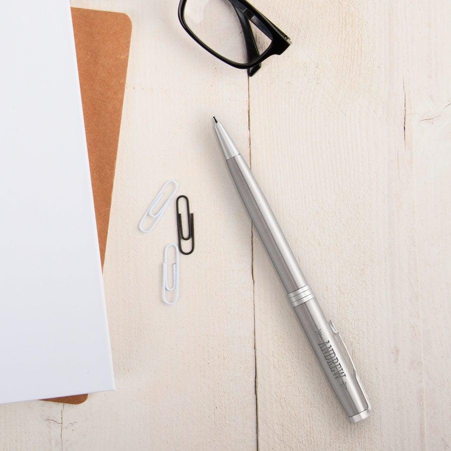 Parker - Sonnet Stål kulspetspenna - Silver (högerhänt)