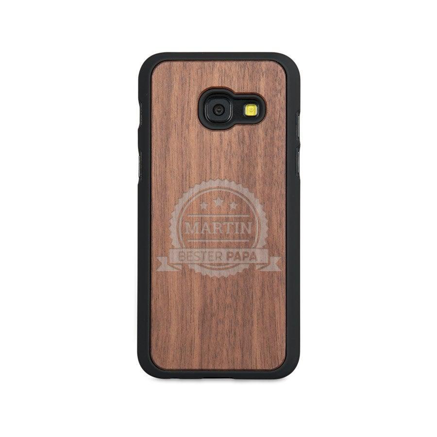 Caixa de telefone de madeira - Samsung Galaxy a3 (2017)