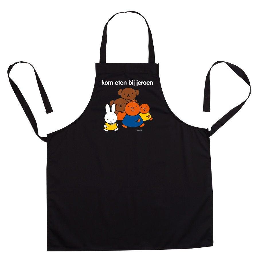 nijntje keukenschort bedrukken - Zwart