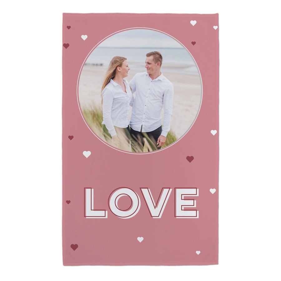 Valentine's Fleece Blanket - 120 x 190 cm