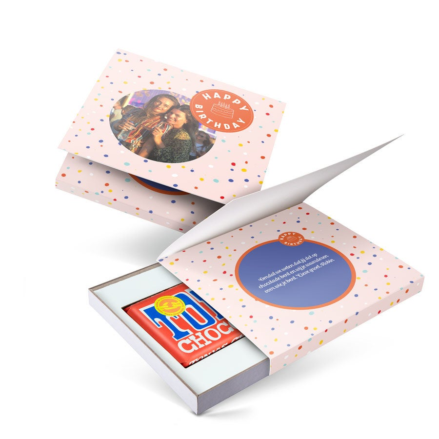 Giftbox met reep Tony's Chocolonely - Melk