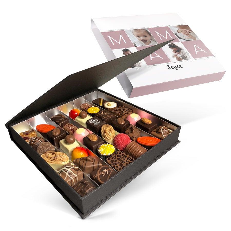 Luxe bonbon giftbox bedrukken - Moederdag (36 stuks)