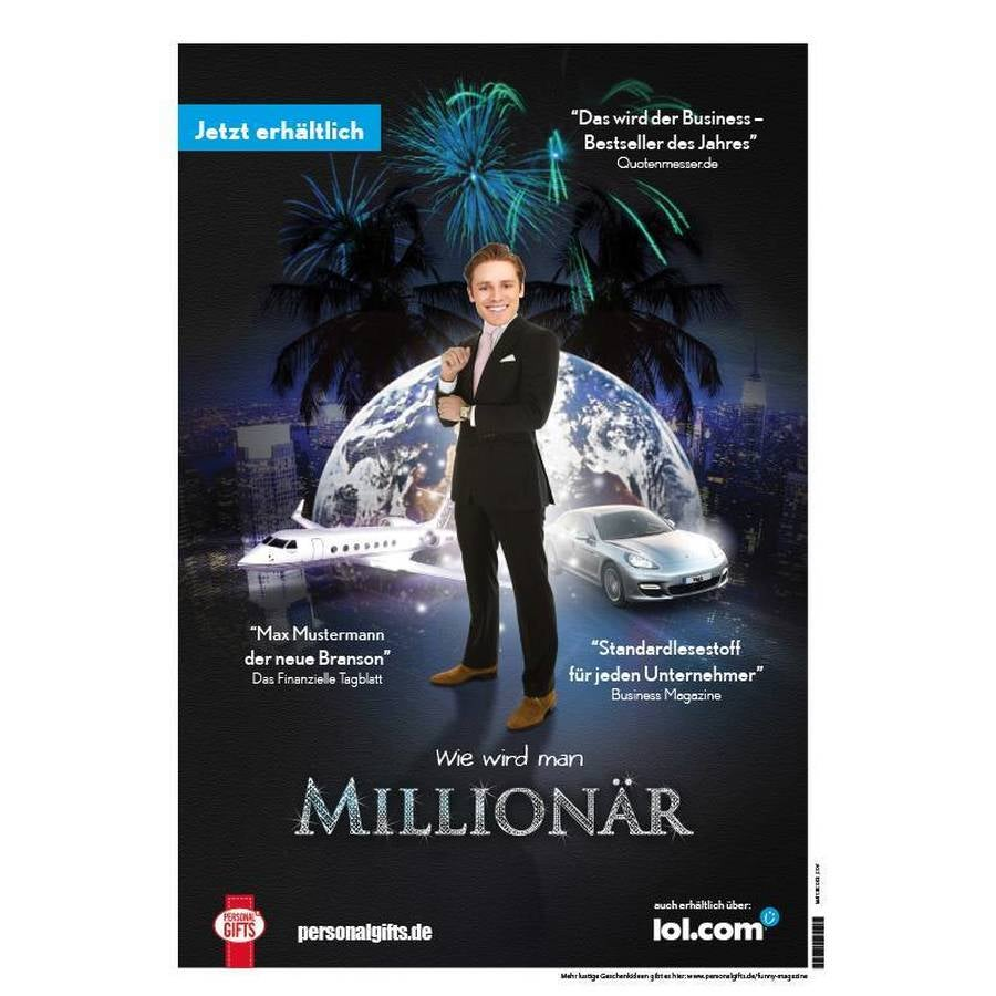 Funny Magazine Poster - Millionär A1