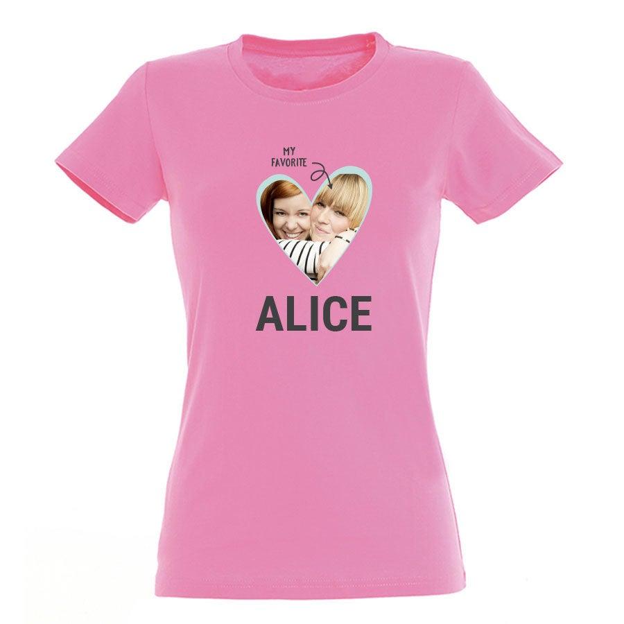 T-shirt - Mulher - Rosa - S