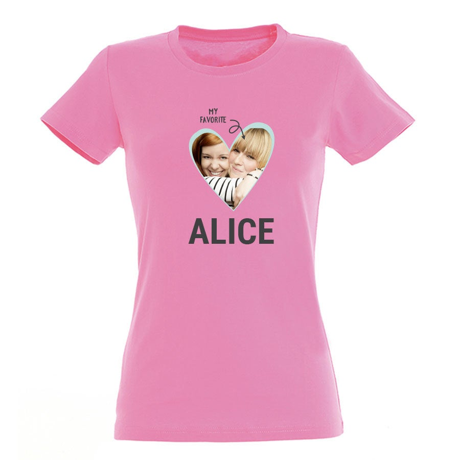 T-shirt - Vrouw - Roze - S