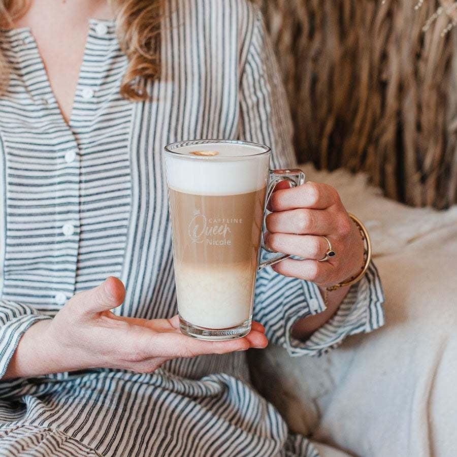 Individuellküchenzubehör - Latte Macchiato Glas mit Gravur Set von 6 - Onlineshop YourSurprise