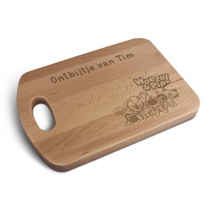 Woezel & Pip broodplank graveren - M