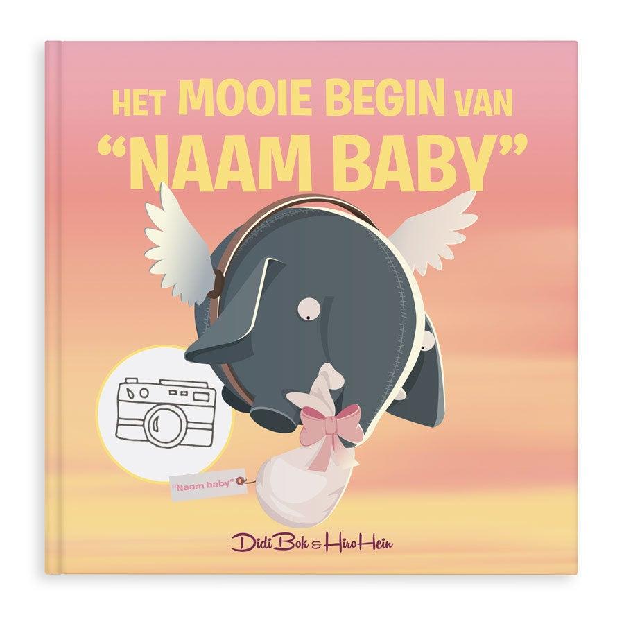 Babyboek met naam, foto, geslacht en geboortedatum Hardcover