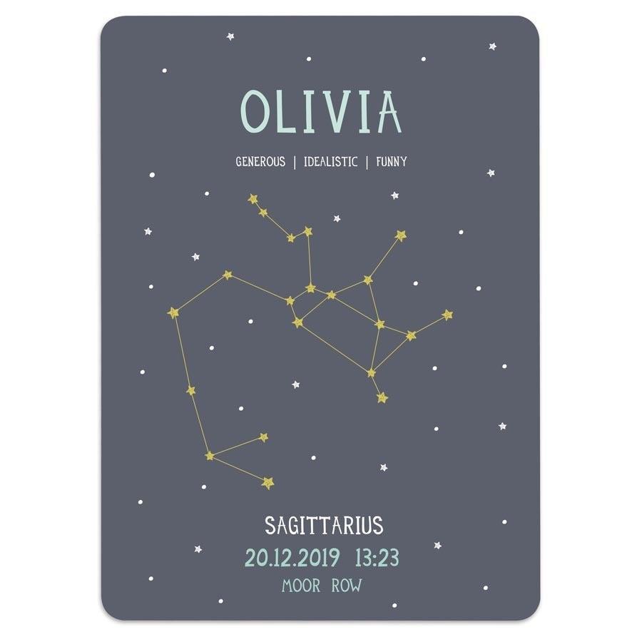 Milestone® babyplakat - Stjernetegn