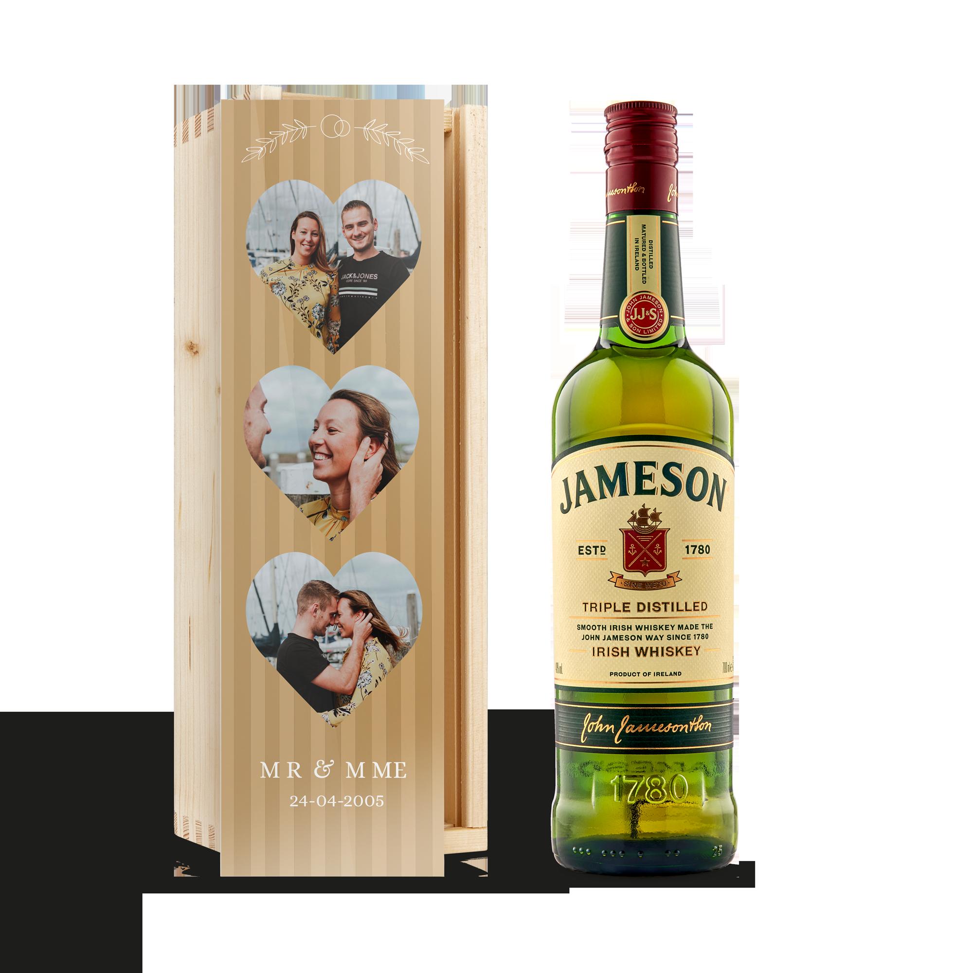 Whiskey in bedrukte kist - Jameson