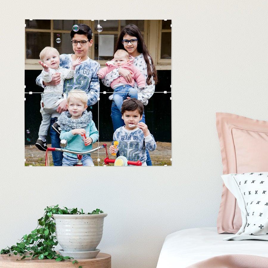 Fotomozaïek panelen - 40 x 40 cm (set van 4 tegels)
