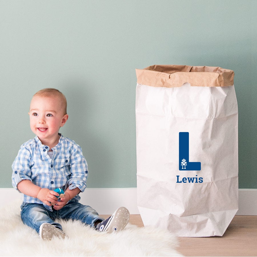 Lekeoppbevaringspose i papir - 50 x 78 x 13 cm