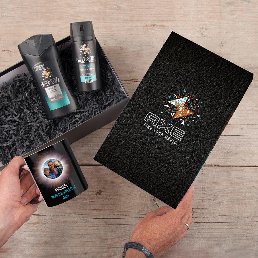Ax lahjasetti - Body Wash & Deodorant + Magic Muki (nahka & evästeet)