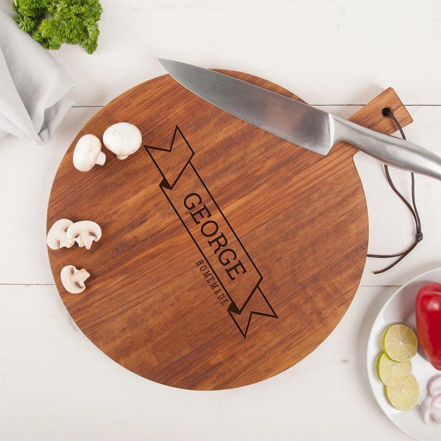 Wooden cutting board - Teak - Round (M)