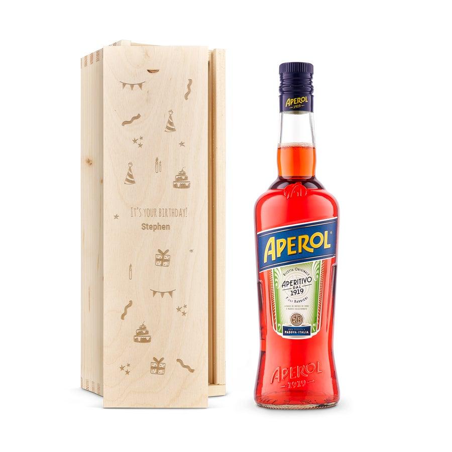 Liqueur in engraved case - Aperol