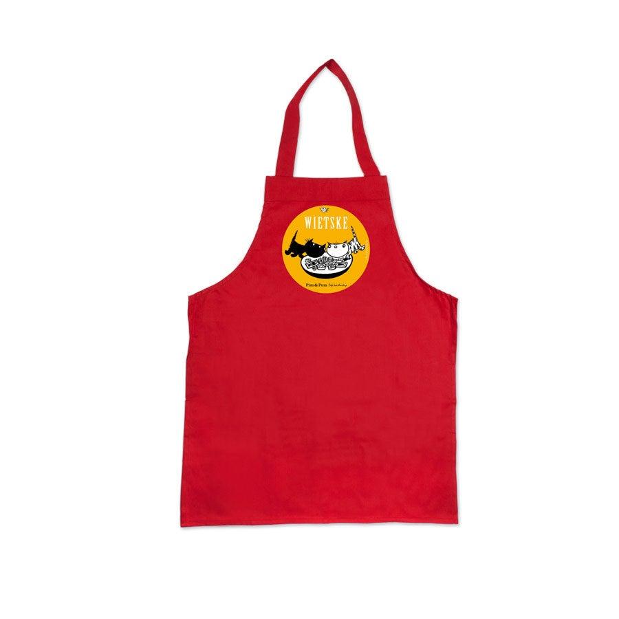 Individuellbabykind - Kinderschürze Pim Pom Rot - Onlineshop YourSurprise