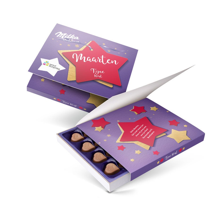 Say it with Milka giftbox - Kerst - 110 gram