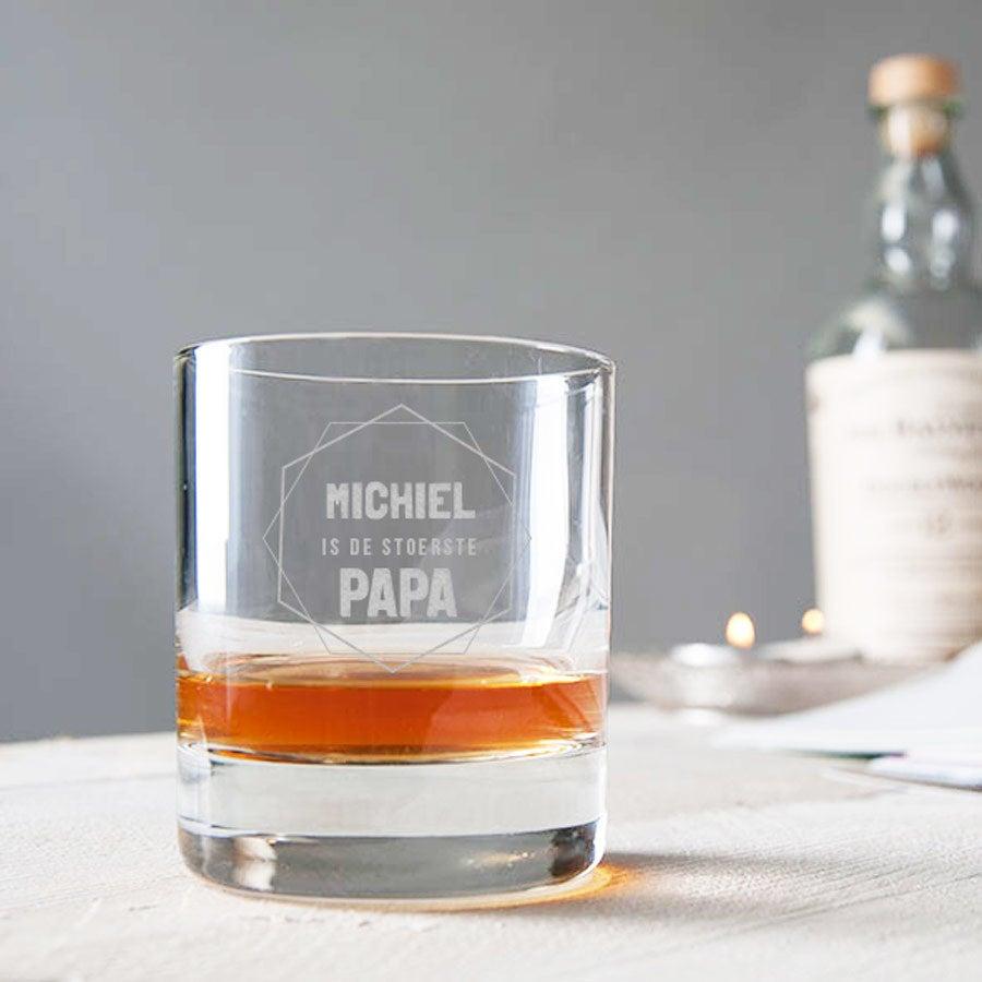 Vaderdag whiskey glas graveren