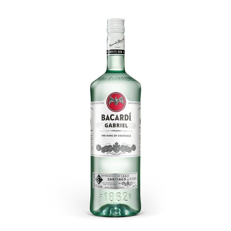 Bacardi Carta Blanca 1L-rom med tryckt etikett