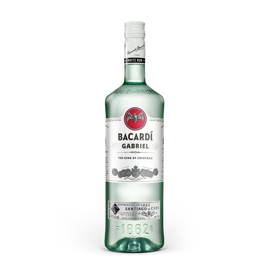Rum with printed label - Bacardi Carta Blanca 1L