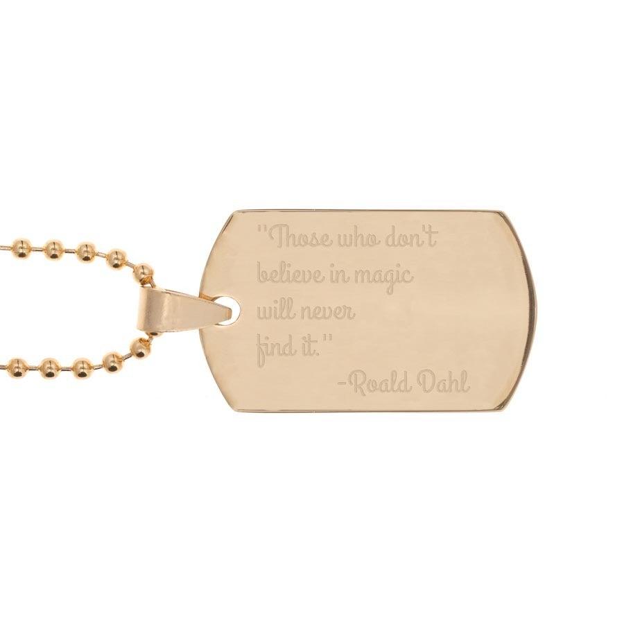 Chapa militar personalizada - ouro