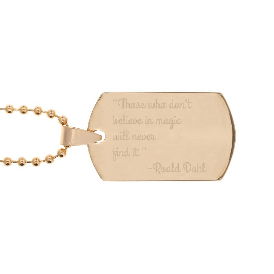 Name Tag (gold plated)