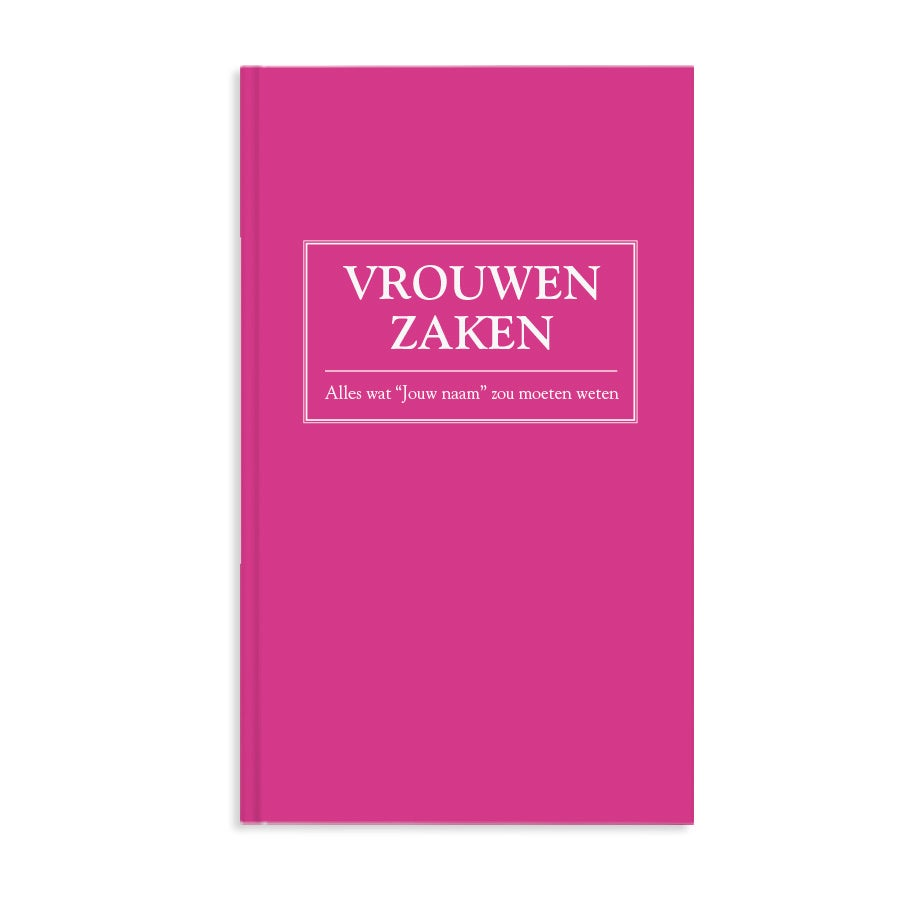 Boek met naam en foto - Vrouwenzaken - Hardcover