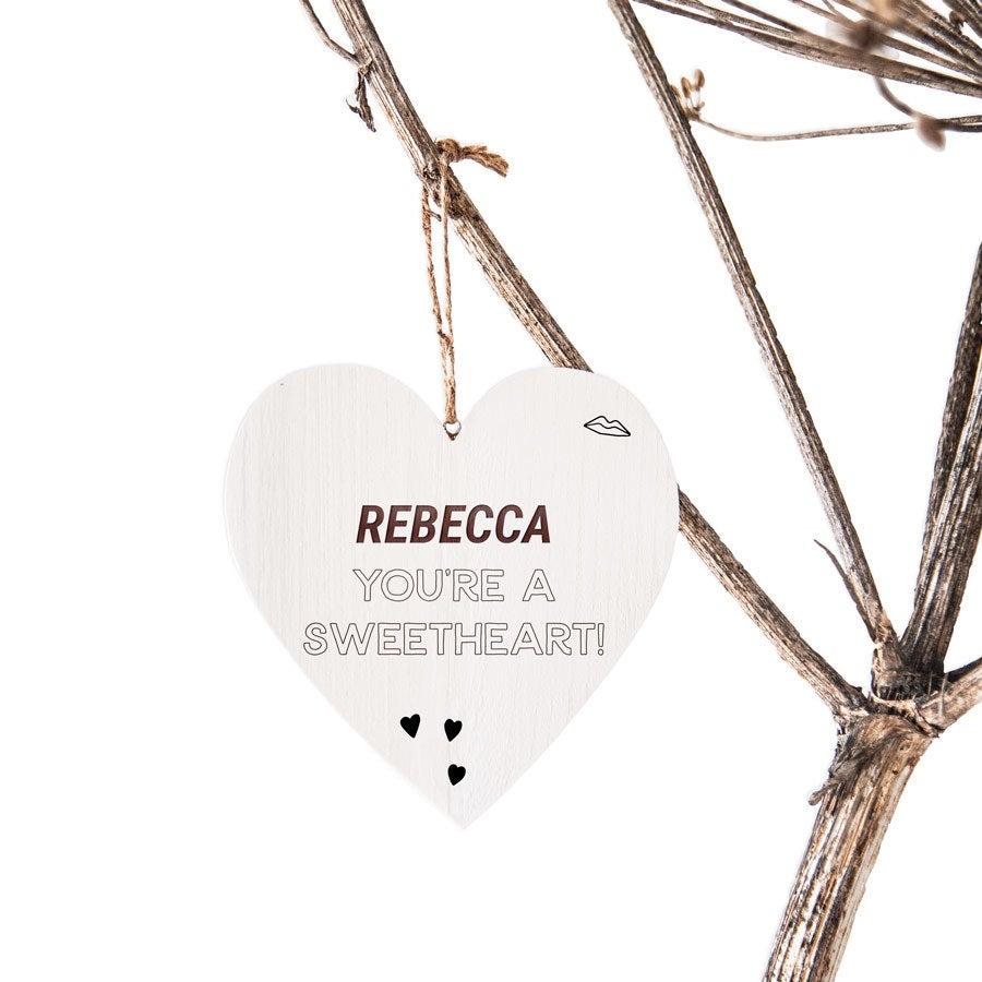 Drevené valentine srdce s textom gravírovanie