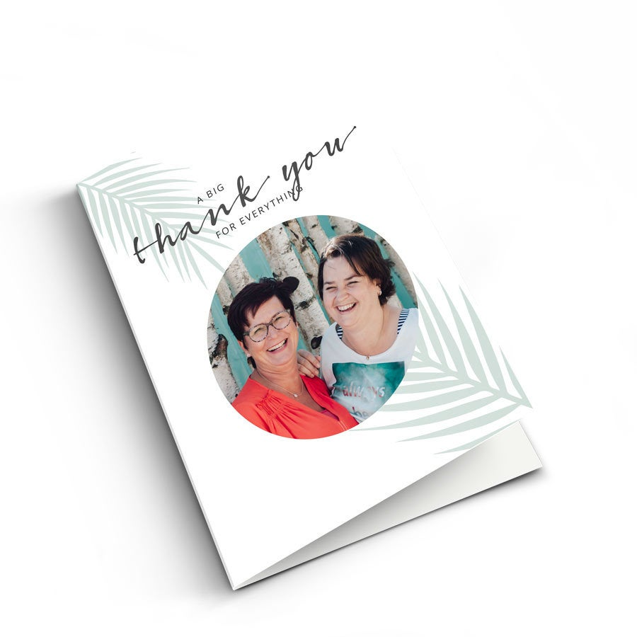 Thank you card with photo - XL - Vertical